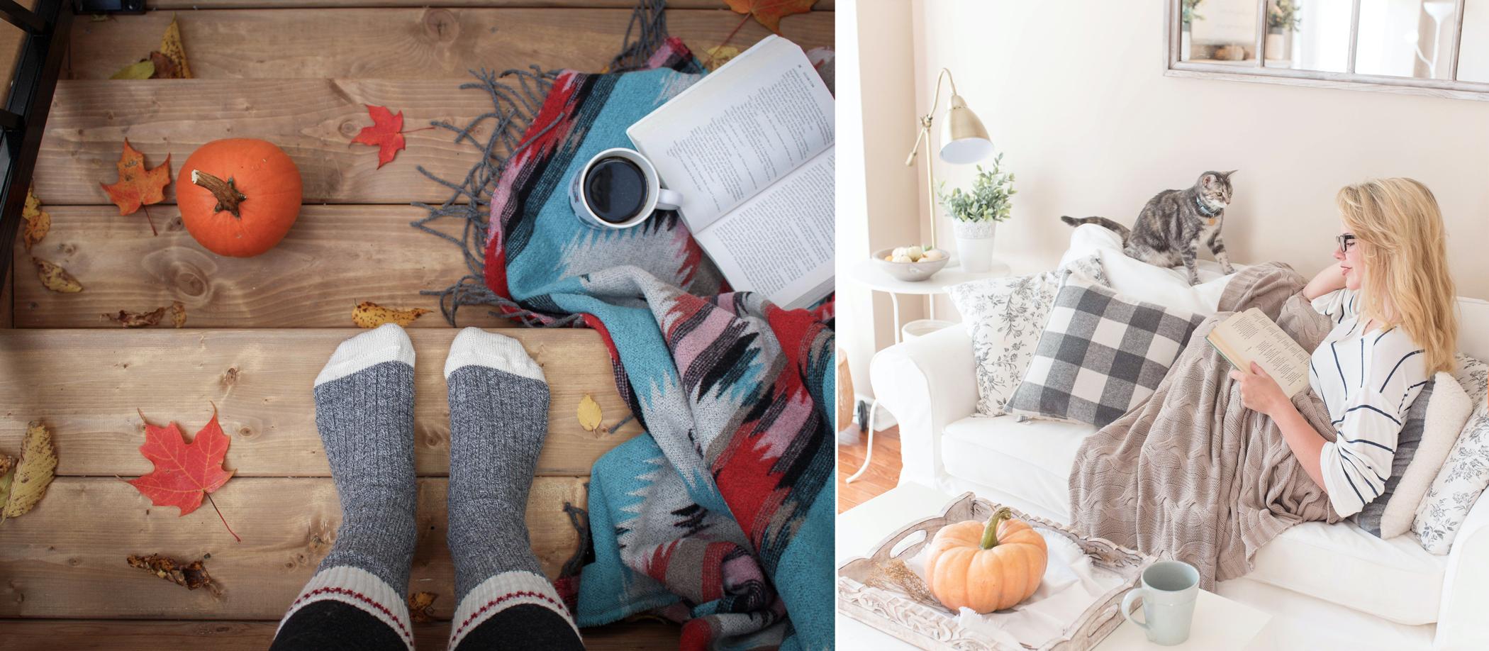 Coin lecture et cocooning très cosy pour l'automne