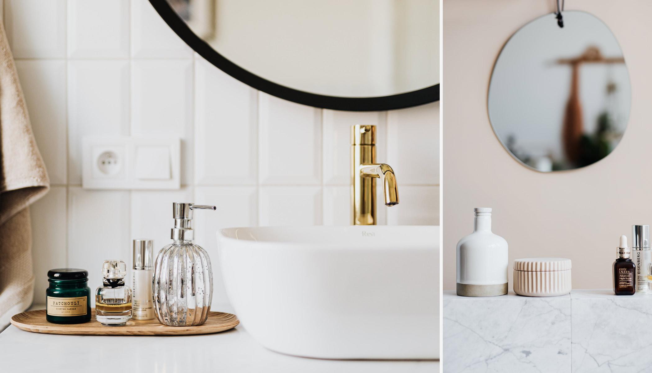Flacon de cosmétiques salle de bain spa zéro déchet