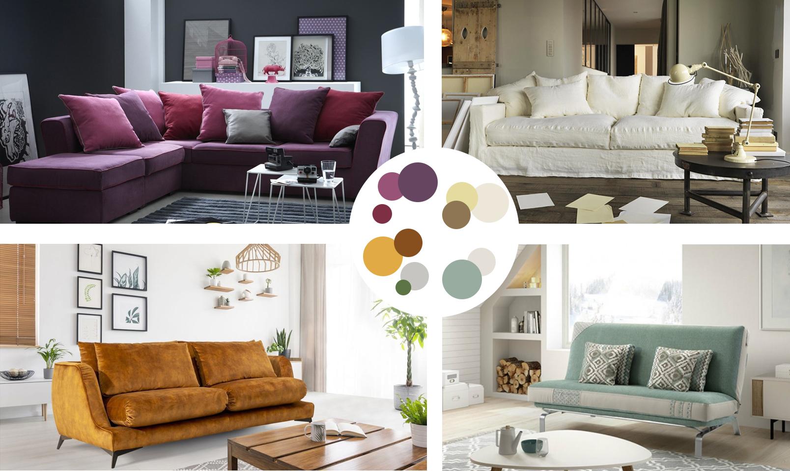 Choisir la couleur de son canapé, tissu et couleurs