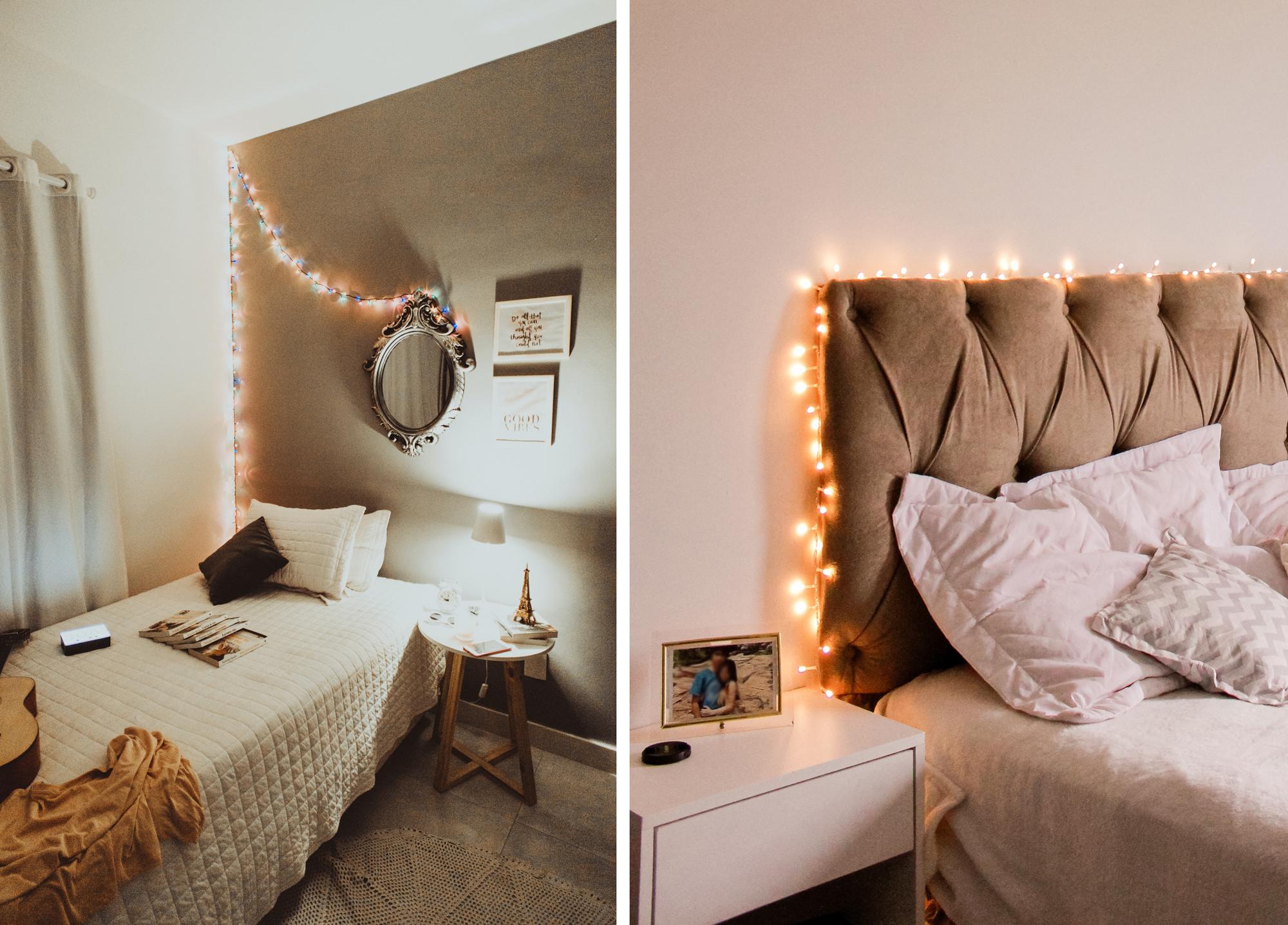 Lumières et guirlandes dans la chambre : effet cosy et lampes tamisées