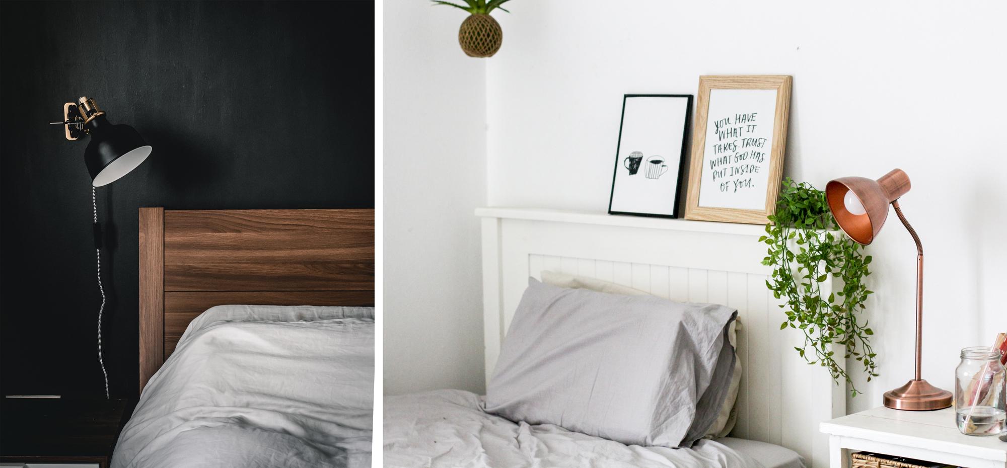 Lampes de chevet chambre cosy et chaleureuse