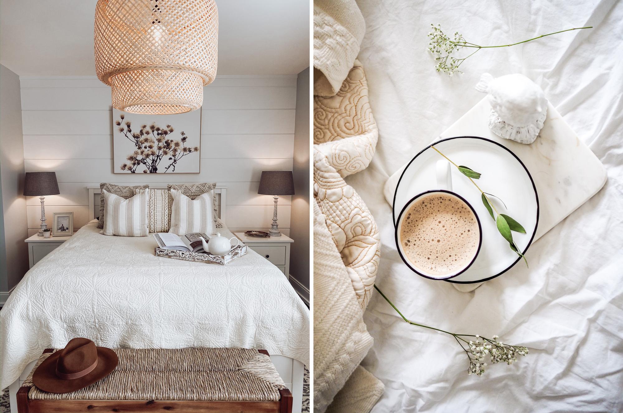 Lit confortable, lin cosy et chaleureux
