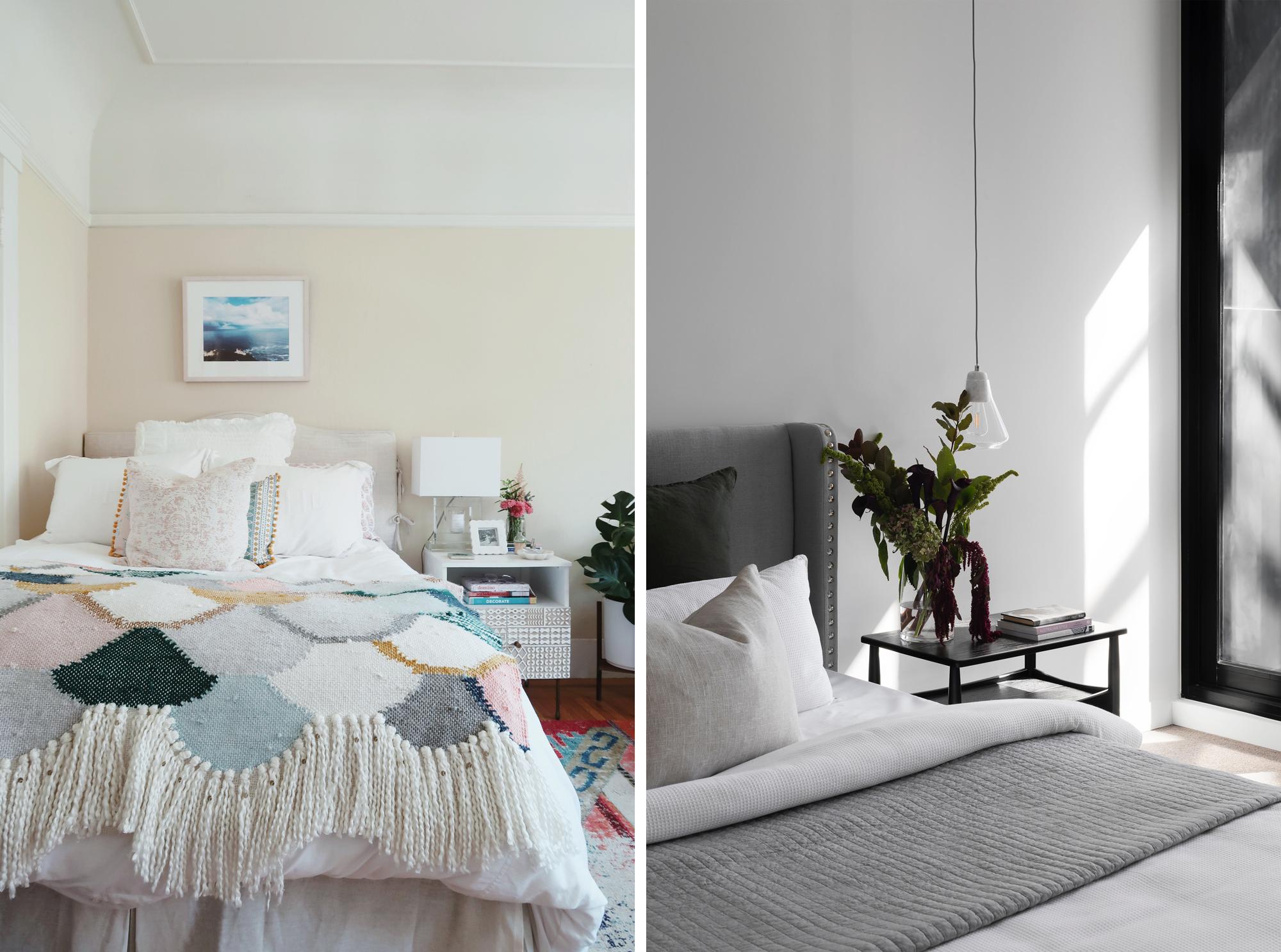 Plaids et jetés de lit pour une chambre douillette et chaleureuse