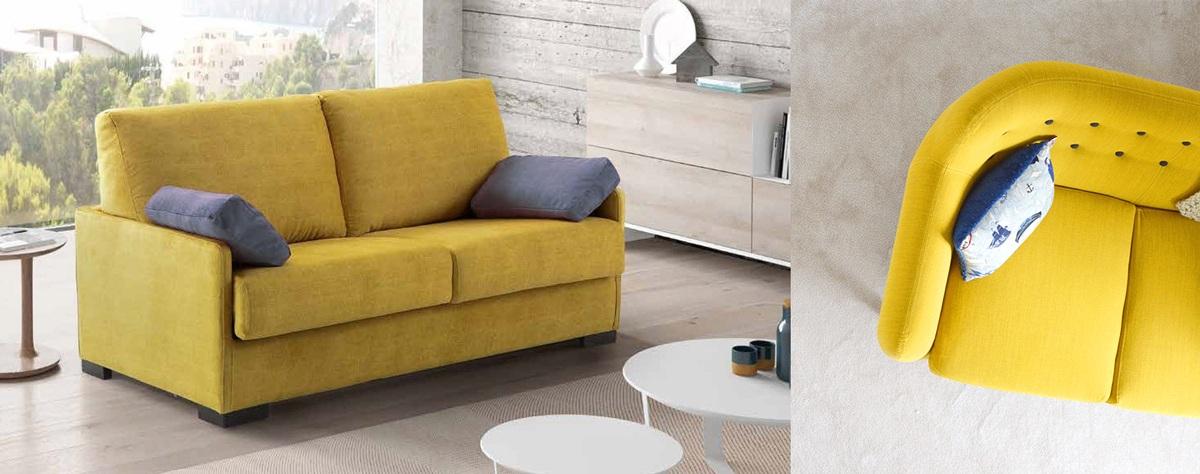 Canapé jaune déco acidulée citron