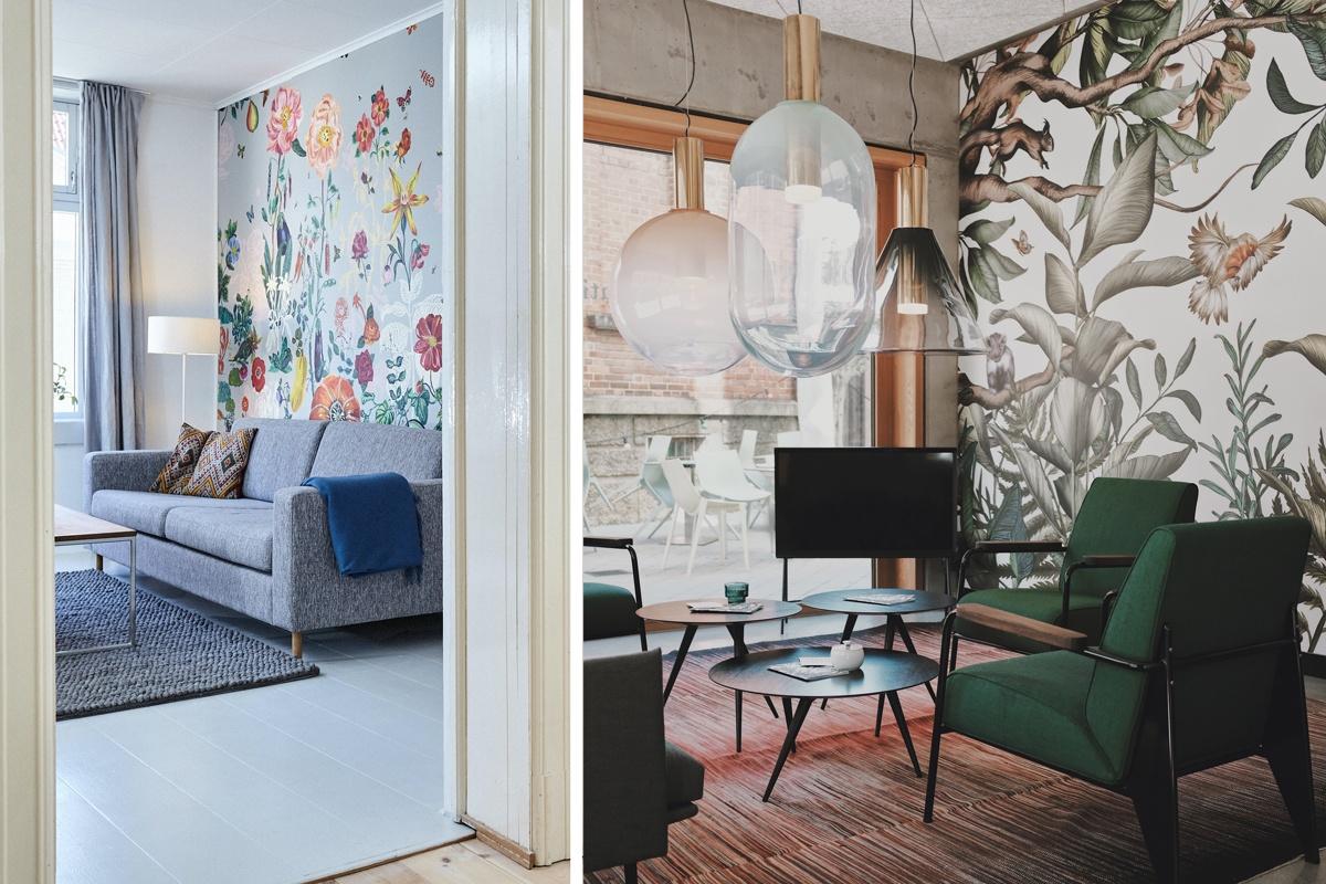 Fresque murale fleurie et tropicale : peindre un mur avec des motifs