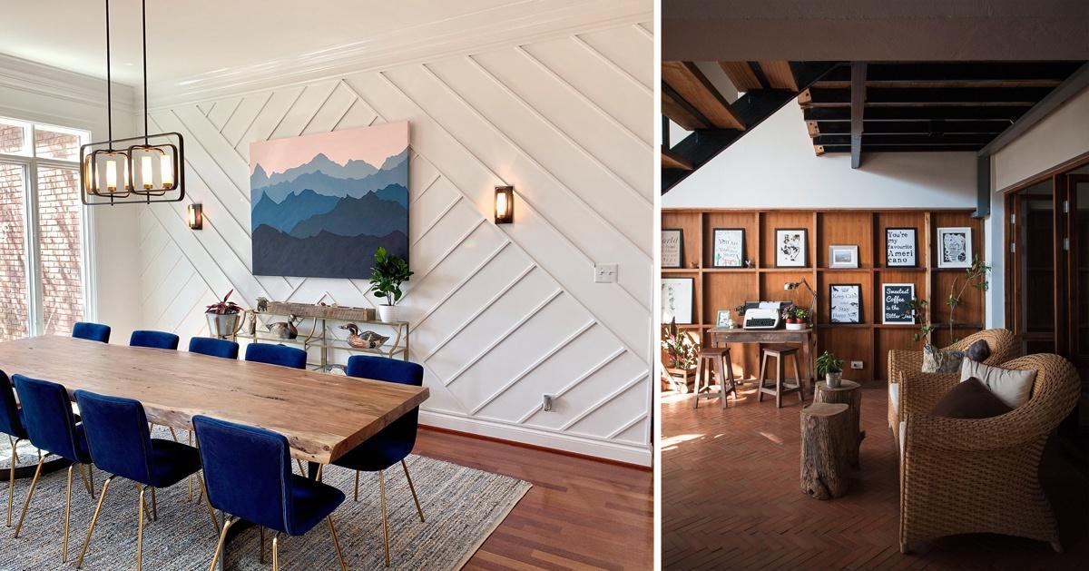Habiller un mur en relief, bois ou platre, moulures et réglettes