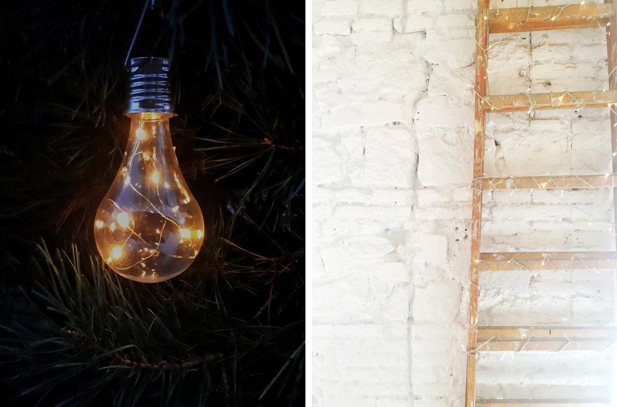 DIY lampes avec une guirlande lumineuse