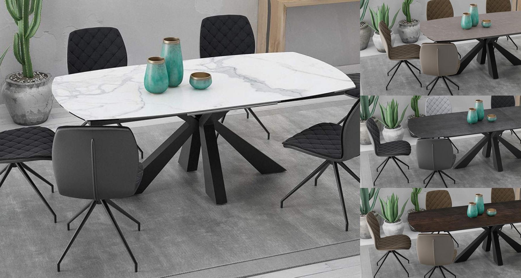 Table en céramique avec rallonges