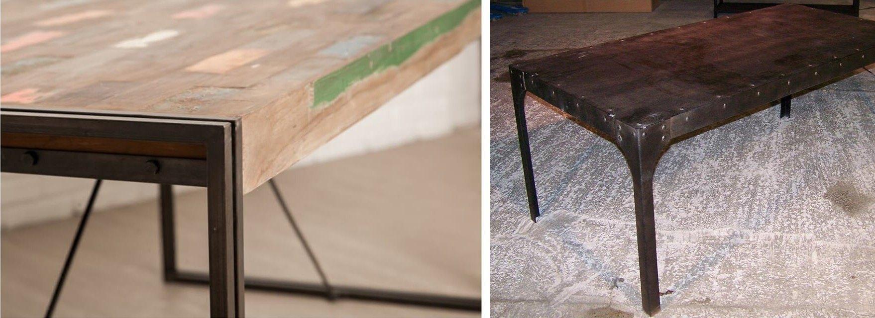 Table industrielle en métal