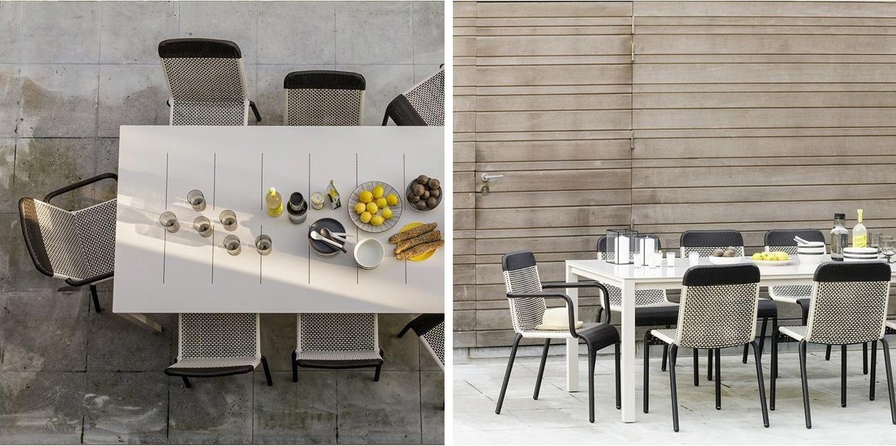 Table en métal pour l'intérieur ou l'extérieur