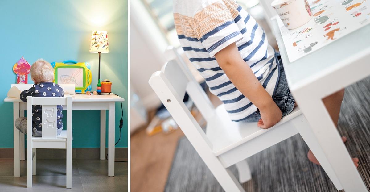 Chaise adaptée aux tout petits