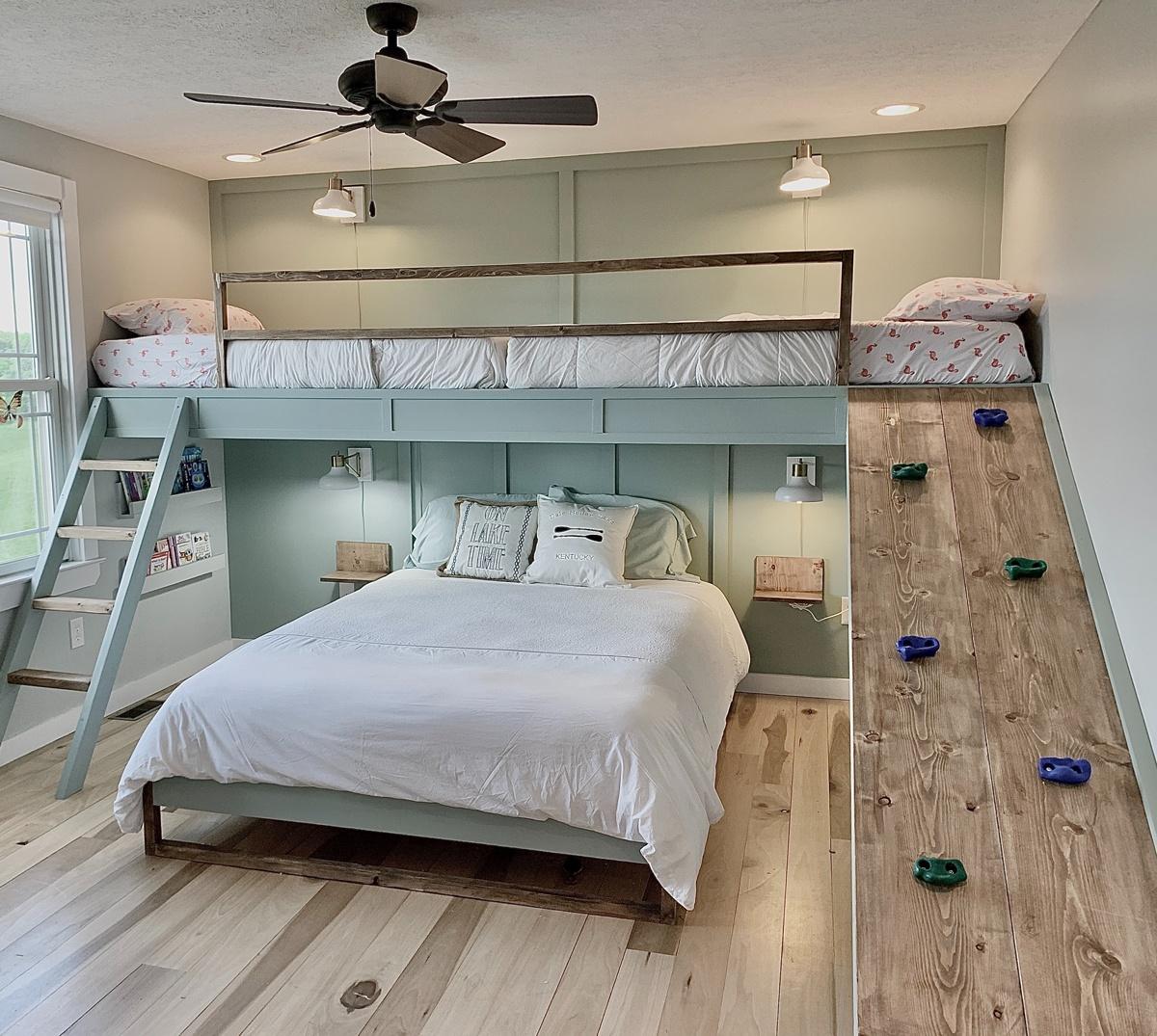 Chambre dortoir cododo lit escalade