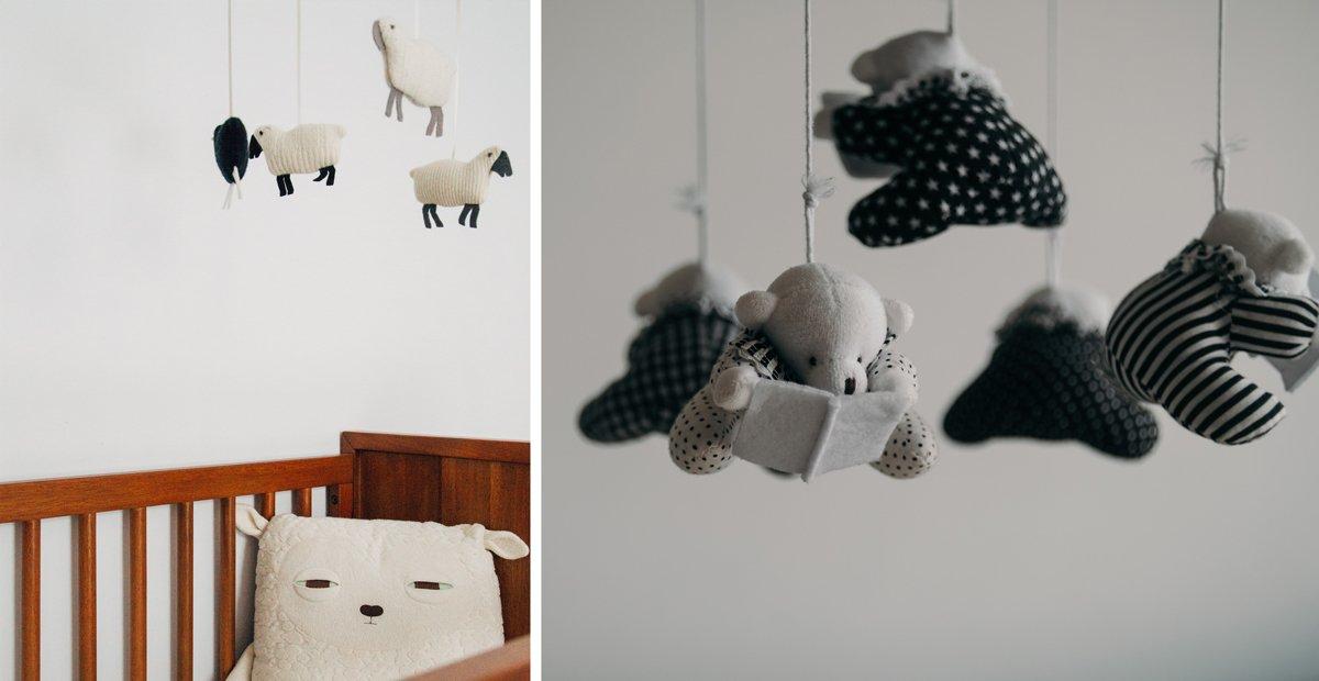 Mobile design doux et naturel chambre bébé bohème