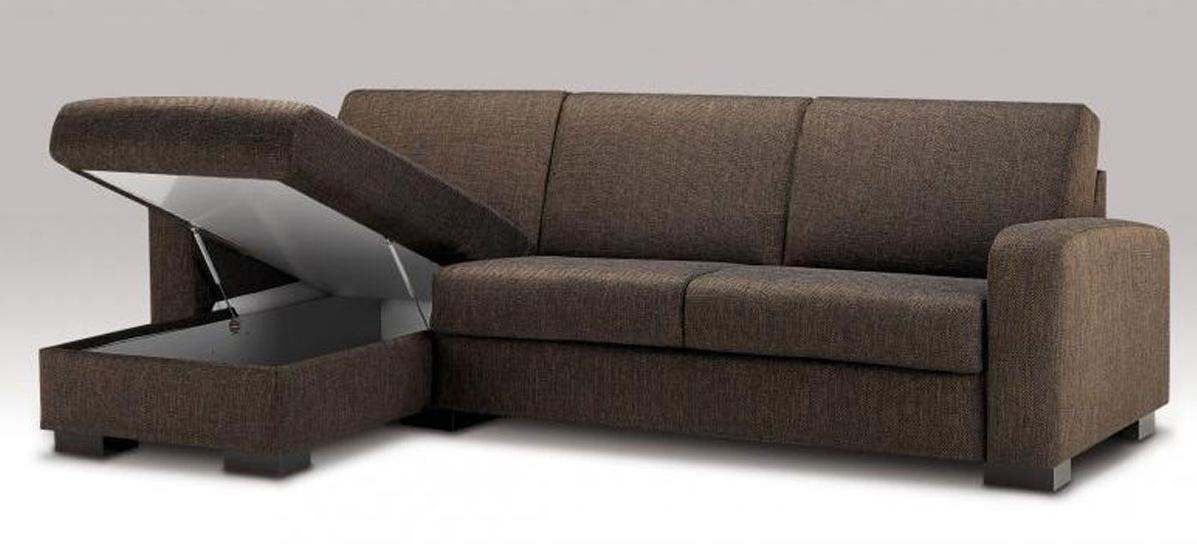 Canapé d'angle avec coffre de rangement