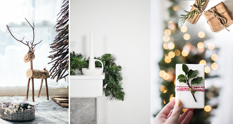 Décorations de Noël minimalistes et naturelles