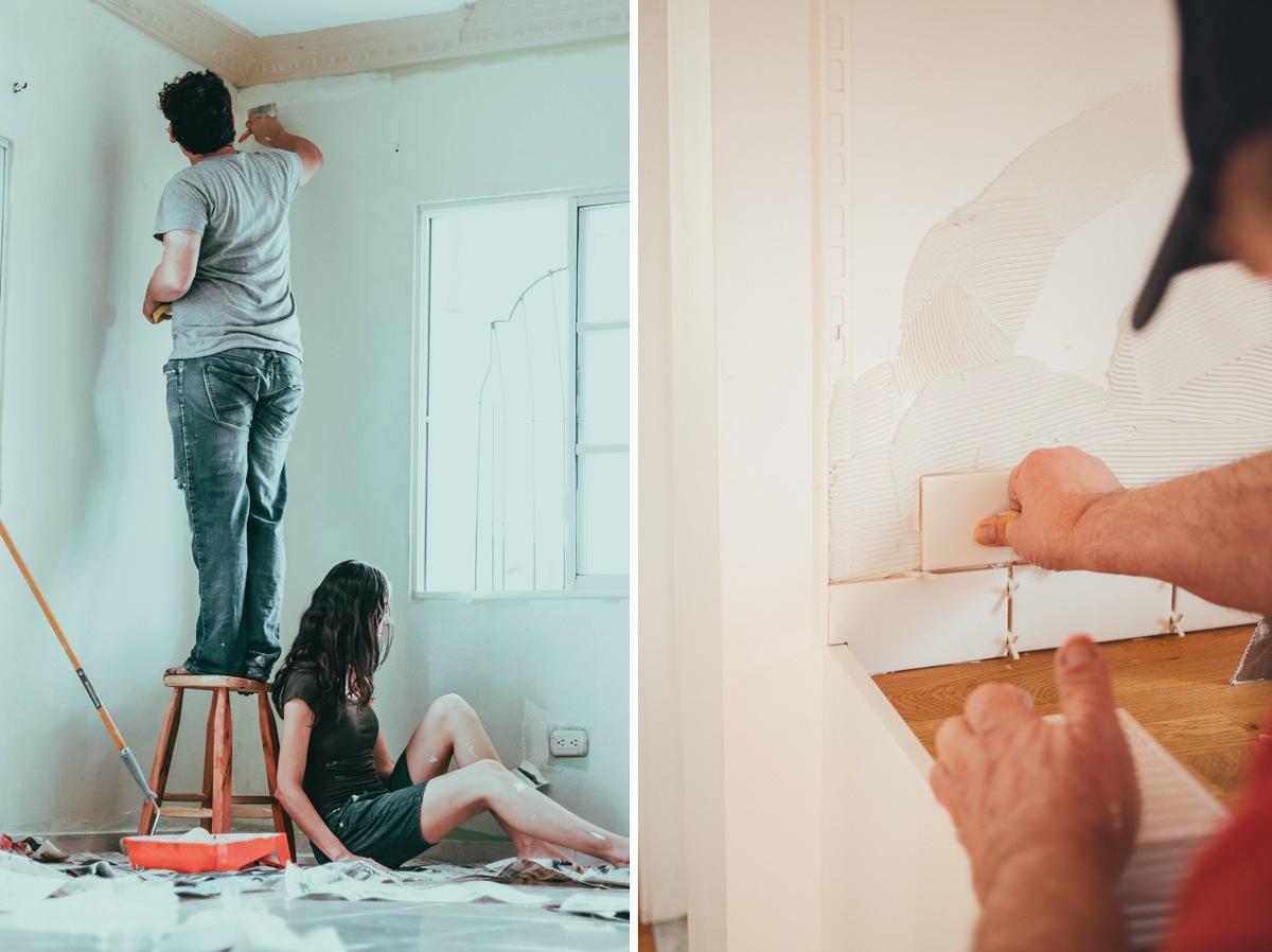 Travaux, peinture et réaménagement de la maison.