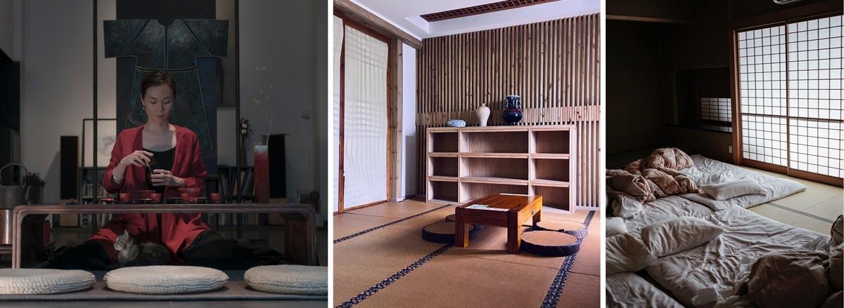 Aménager un intérieur façon japonaise : thé et repas au sol, futons...