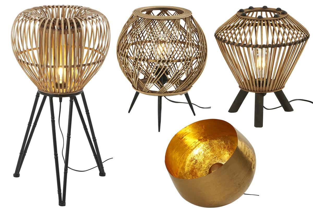 Lampes asiatiques en bambou tressé