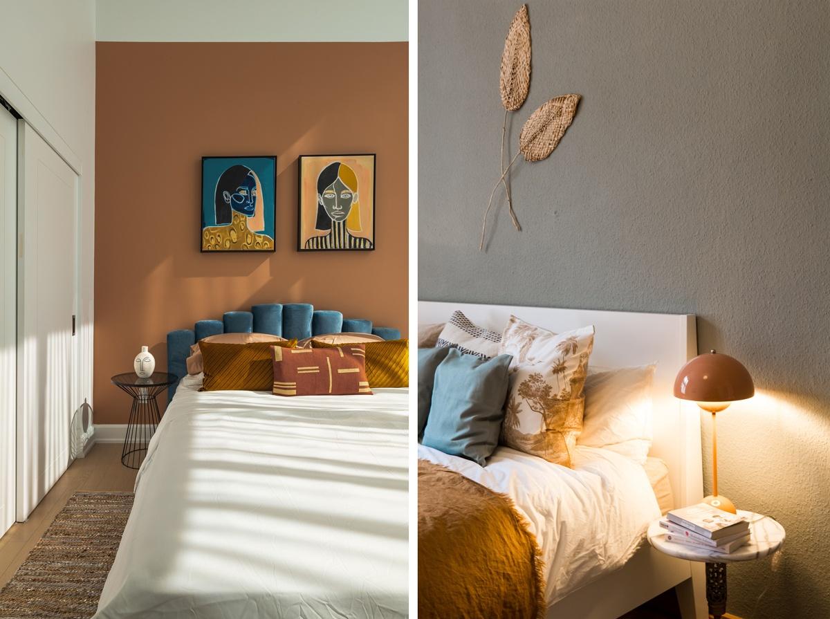 Chambre aux couleurs douces et pastel earthtones couleurs naturelles