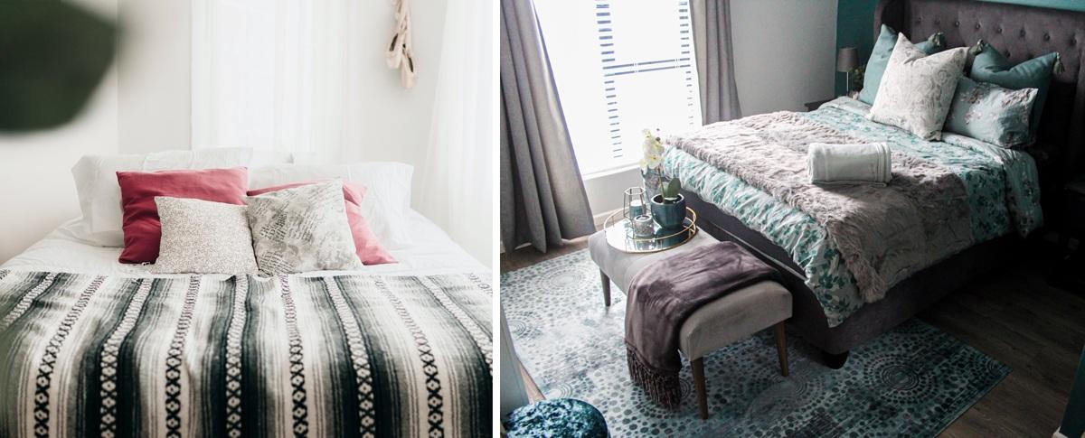 Motifs et patterns textiles déco chambre à coucher