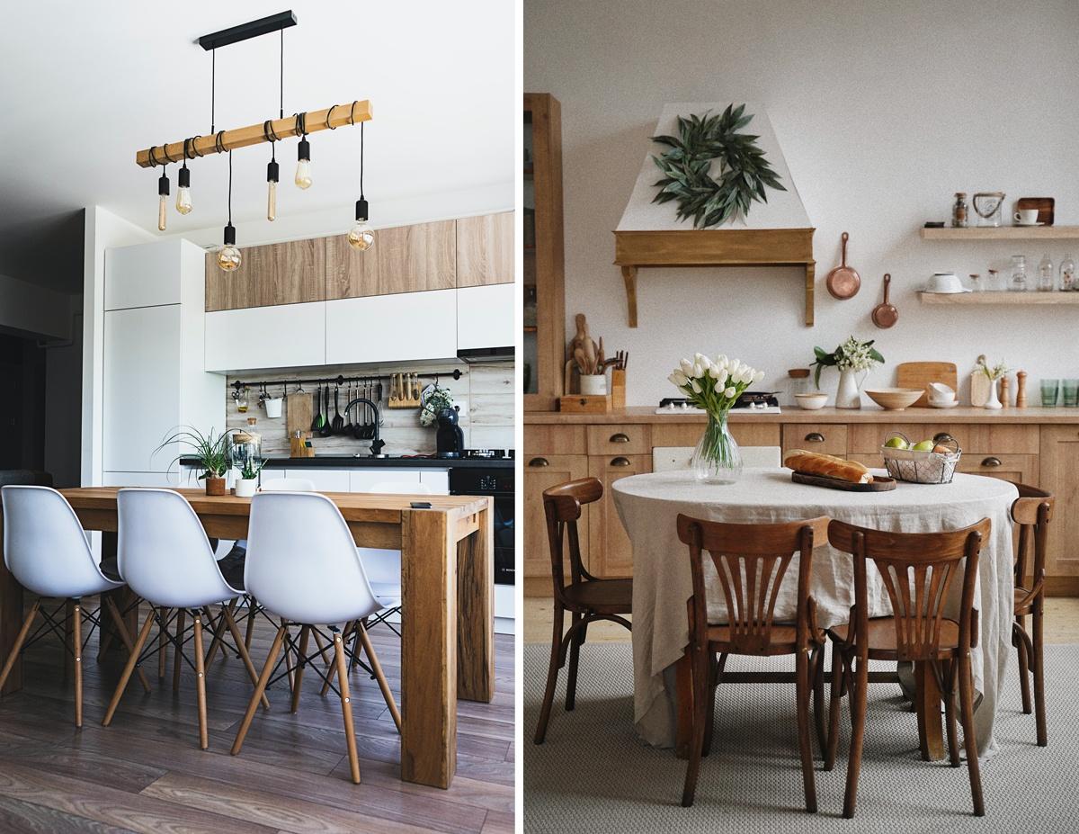 Table de repas dans la cuisine