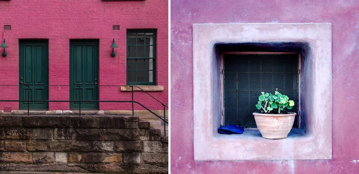 Peindre une façade en rose, maison colorée
