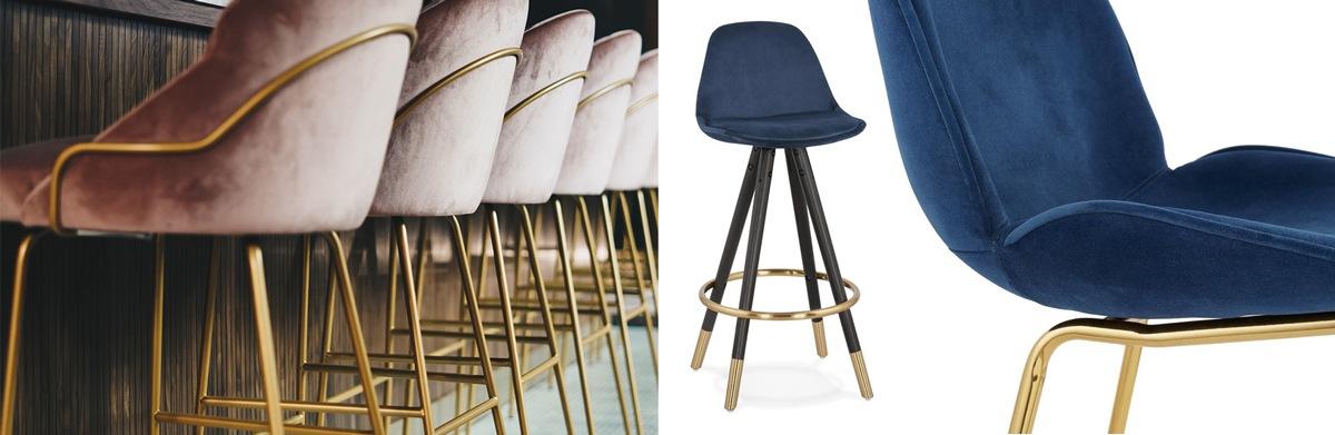 Chaises et fauteuils structure dorée laiton