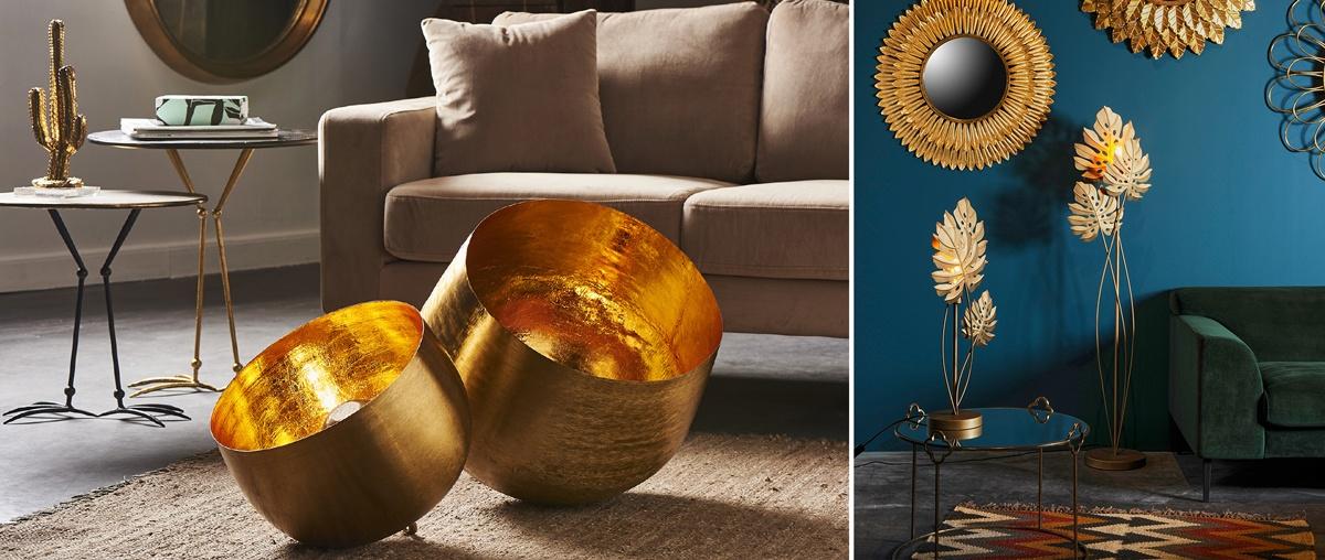 Lampes de décoration en laiton couleur dorée Athezza
