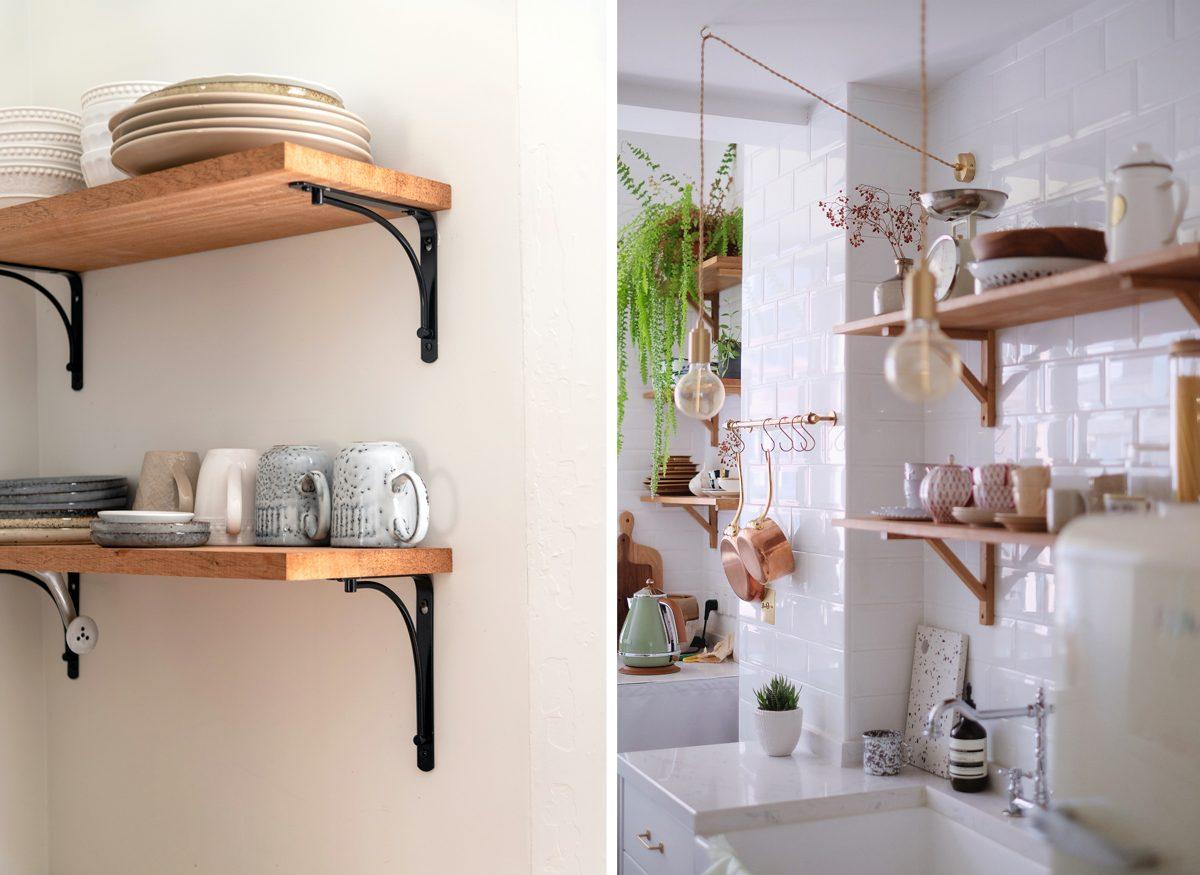 Etagères flottantes murales cuisine kitchen decor inspiration