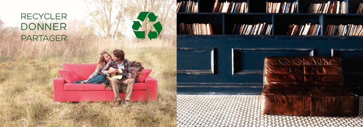 Recycler ou donner son ancien canapé : particulier, association, revente d'occasion...