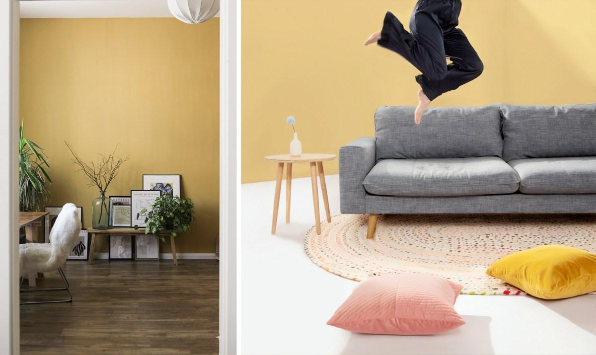 Peindre les murs en jaune pâle : déco et couleurs