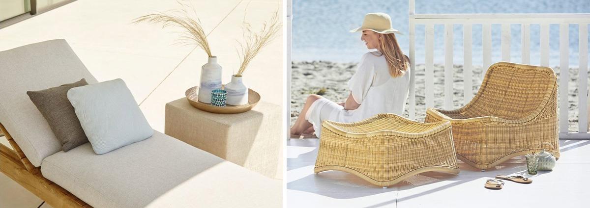 Bain de soleil et détente au jardin, transat, hamac, pouf...