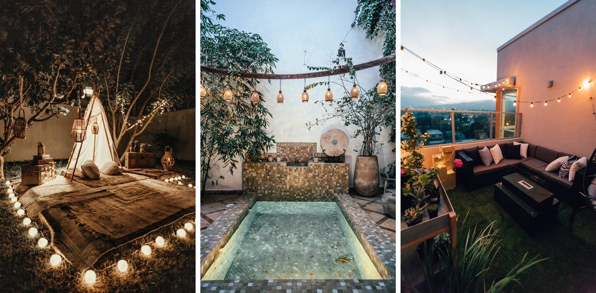 Lampes et lampions pour le jardin ou le balcon lumière extérieure