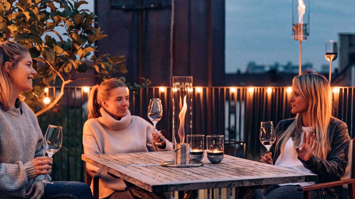 Spin Höfats cheminée de table lumière extérieur jardin