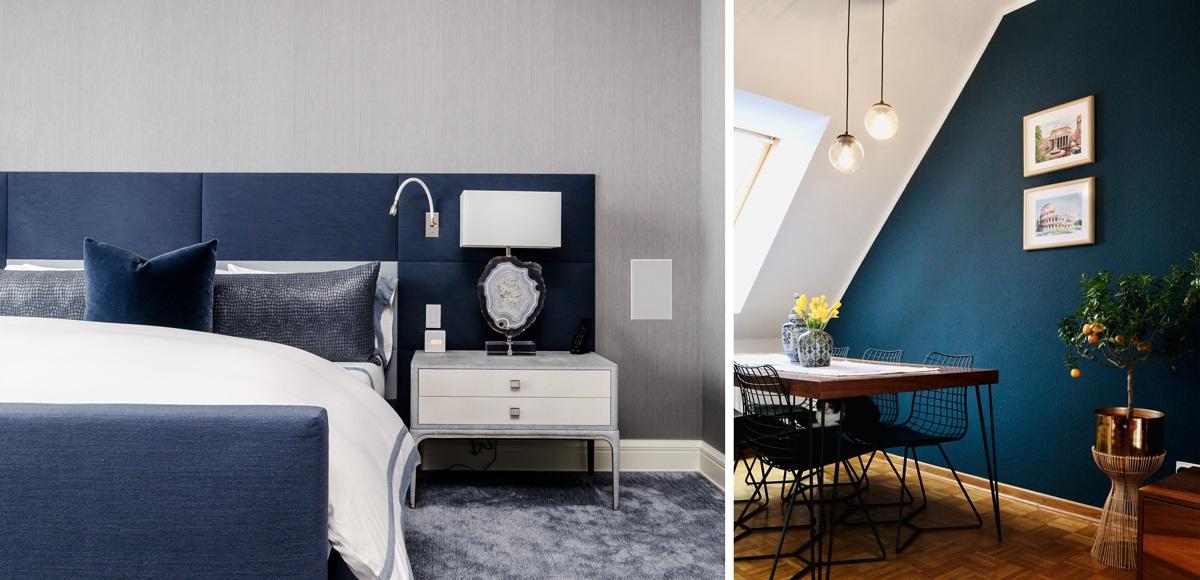 Bleu moderne et contemporain décoration rénovation peinture et inspiration