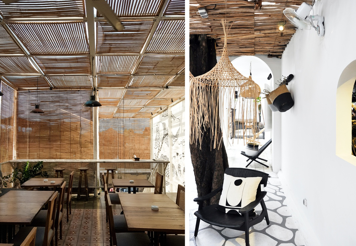 Terrasse été tropical avec toit en cannisse ou en bois flotté aménager son balcon