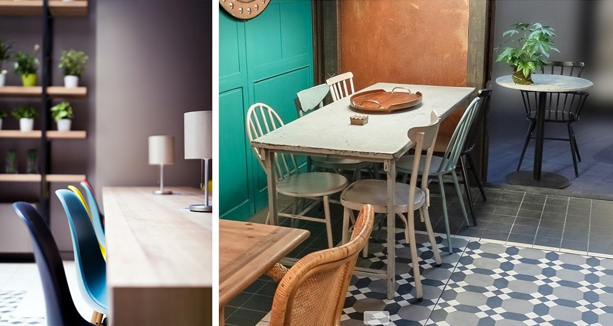 Mix & Match : chaises dépareillées ou de couleurs différentes