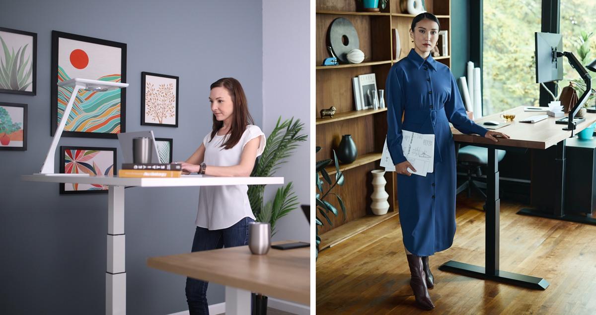 Bureau debout avec hauteur réglable pour une meilleure ergonomie