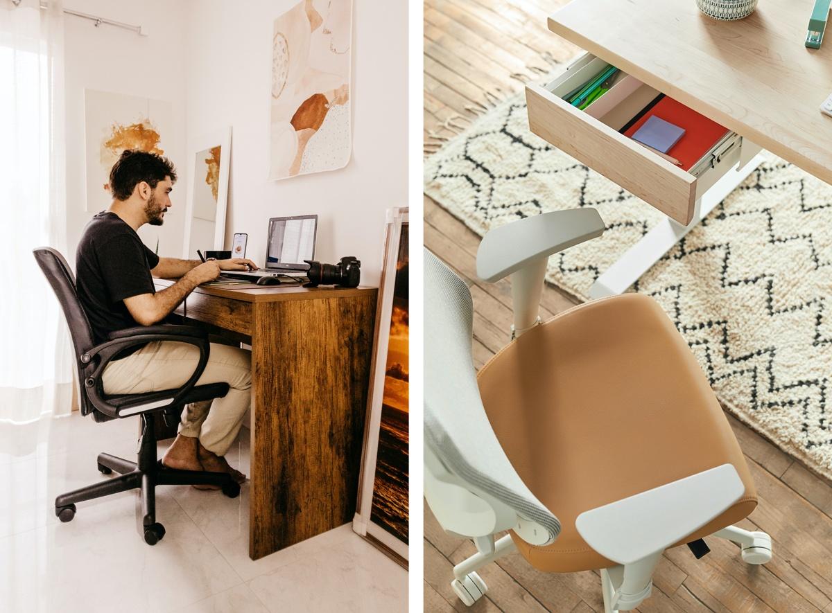Siège ergonomique de bureau réglable