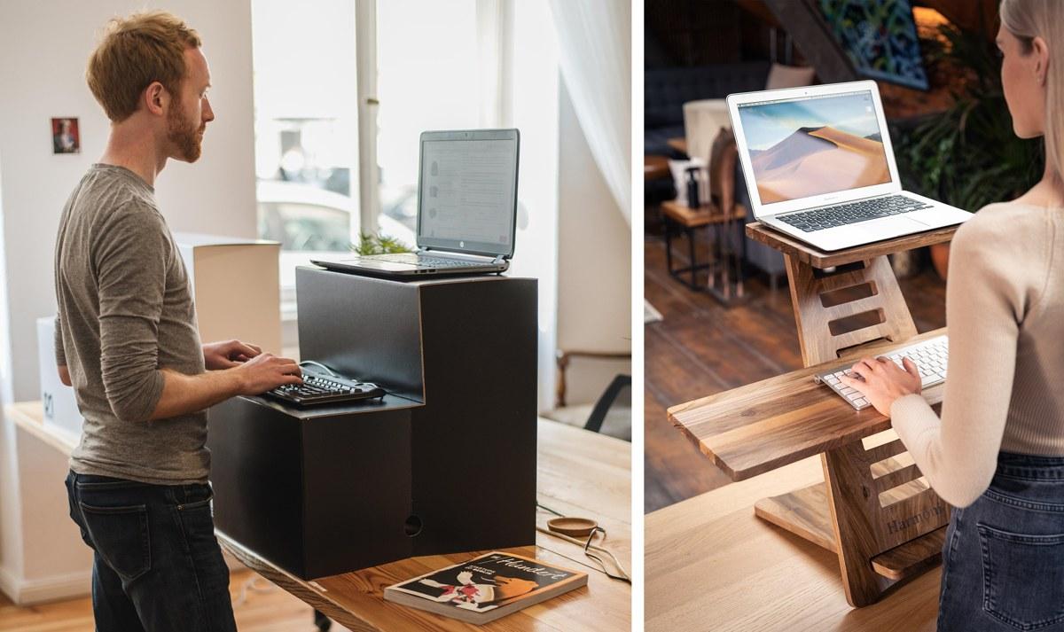 Standing desk pour surélever ordinateur