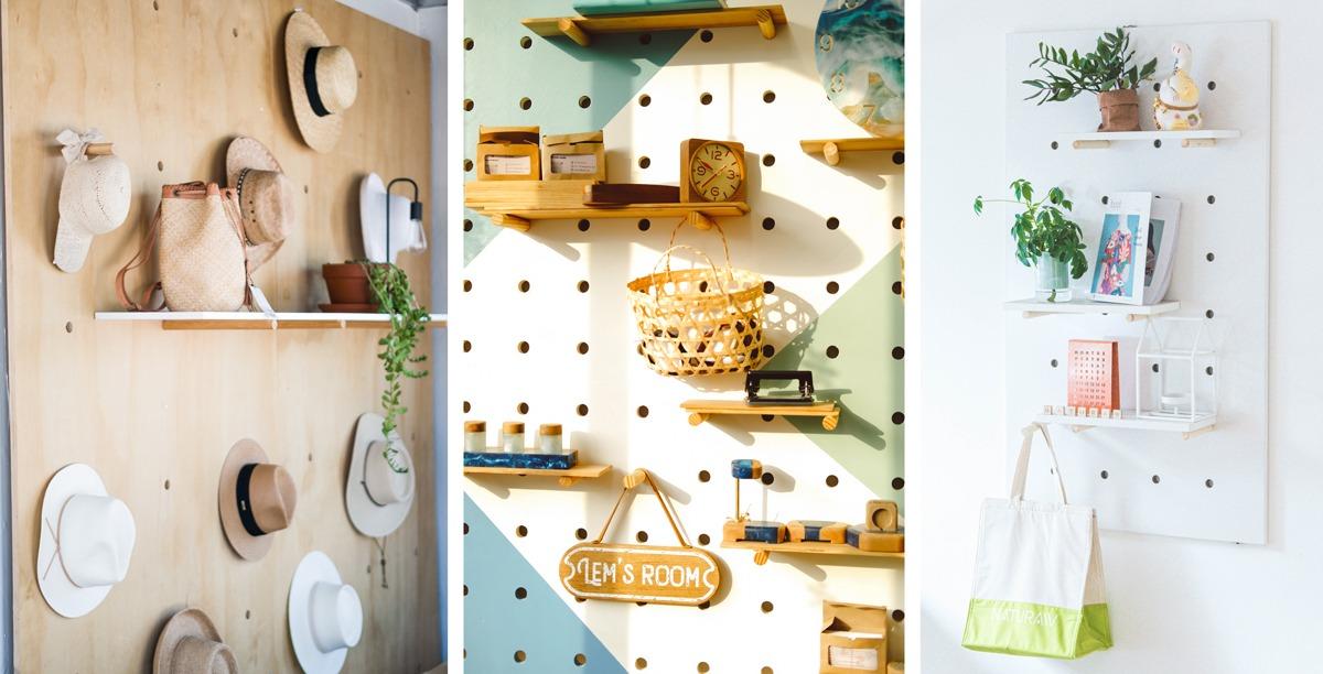 Pegboard et décoration murale : mettre en valeur des objets ou des collections