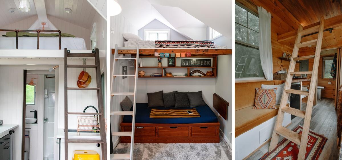 Mini mezzanine pour un couchage en hauteur, lit dans tiny house