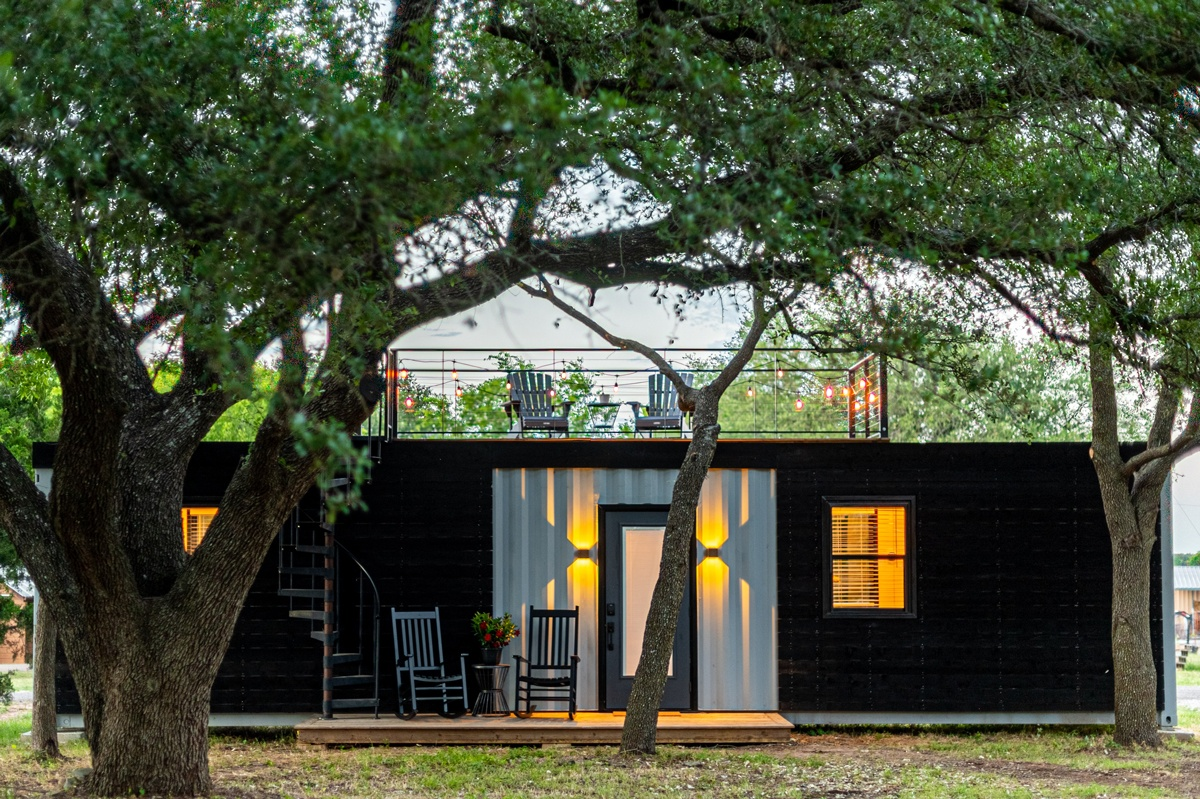 Toit terrasse, aménagement Tiny house