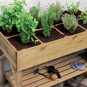 Carrés potagers, jardinières et bac à fleurs en bois Burger