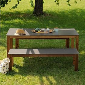Tables et bancs de jardin en bois Burger