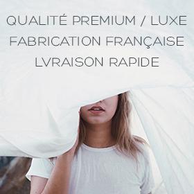Draps, parures de lit et petite literie de qualité hôtelière, fabrication française et livraison rapide
