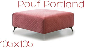 Pouf carré Portland Confort Plus