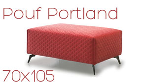 Pouf Portland rectangulaire Confort Plus