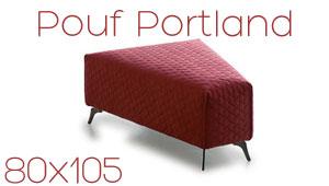 Pouf trapèze Portland Confort Plus