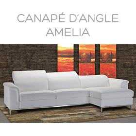 Canapé d'angle Amelia Luxury Confort Plus